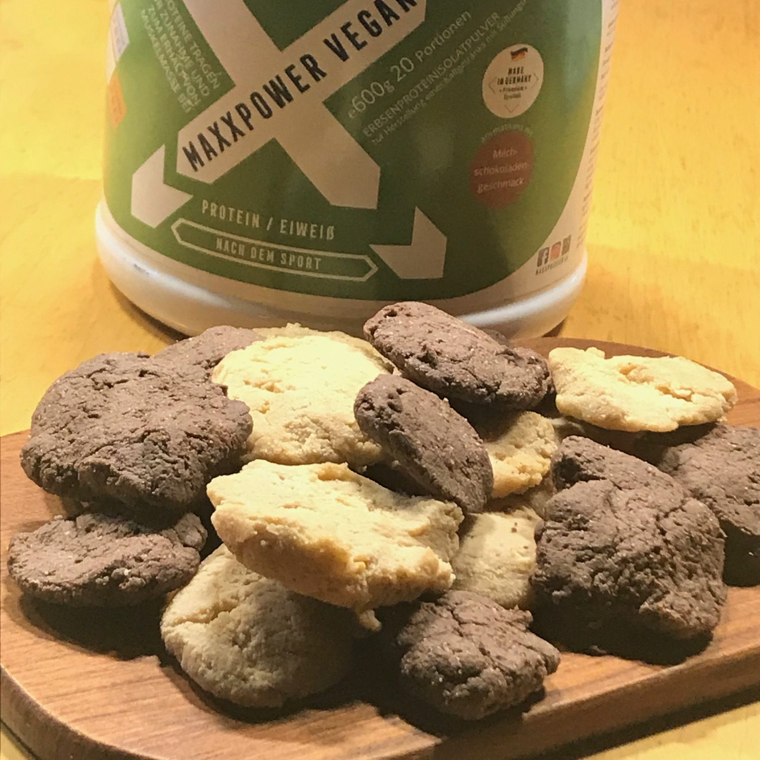 5-Minuten-Double-Choc-Peanutbutter-Protein-Cookies – WOW!